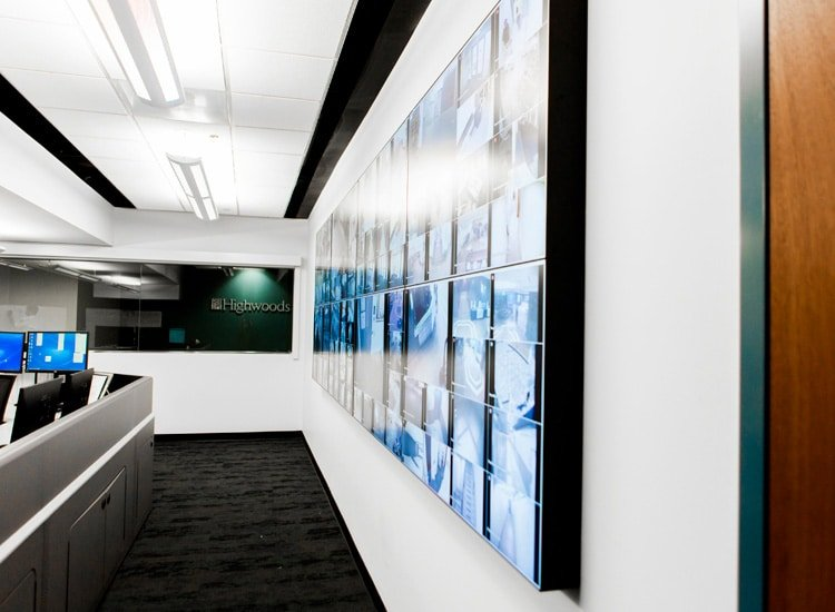 Project Profile: Highwoods Properties video wall 1