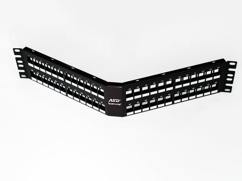 iCAT-ITS® angled patch panel (2RMU)