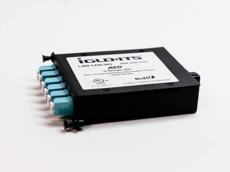 12-port LC Fiber Cassette OM3 Male MTP