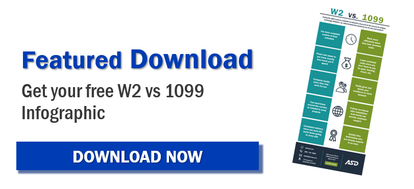 W2 vs 1099 Infographic Download