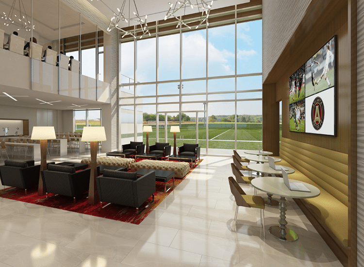 Project Profile: Atlanta United Training Facility Lobby