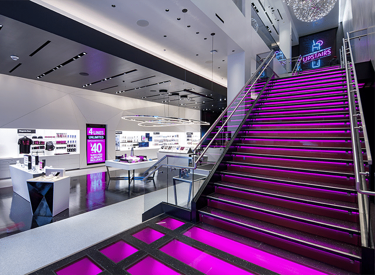 Project Profile: T-Mobile Tech Rollout stairs