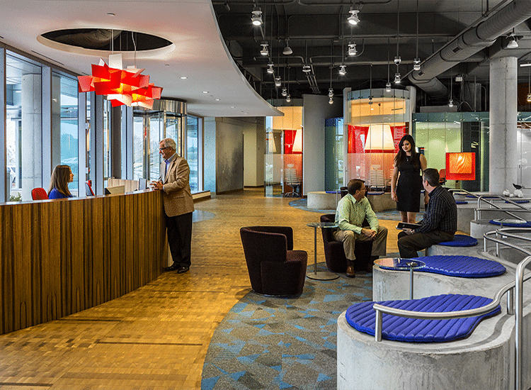 Intergraph Hexagon HQ Design/Build Lobby