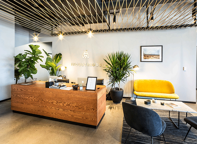 Project Profile: Industrious Coworking Lobby Area