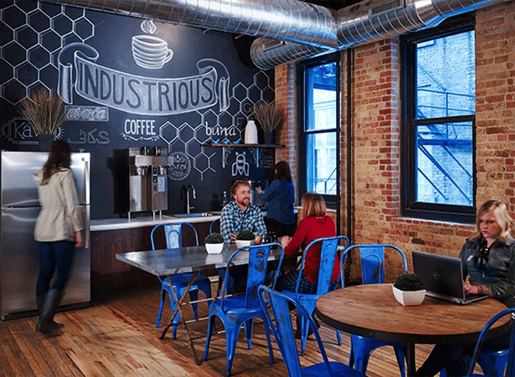 Project Profile: Industrious Coworking Break Room