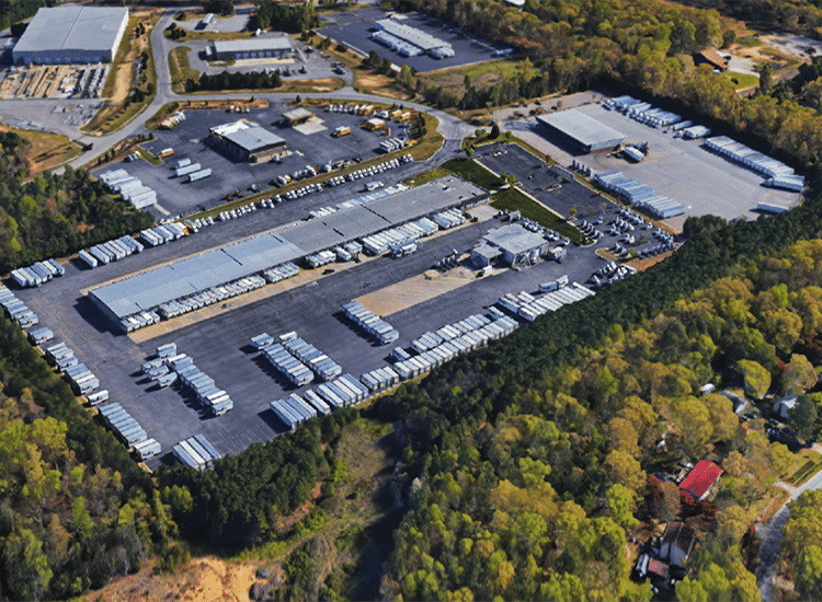Project Profile: FedEx Freight Warehouse Arial View