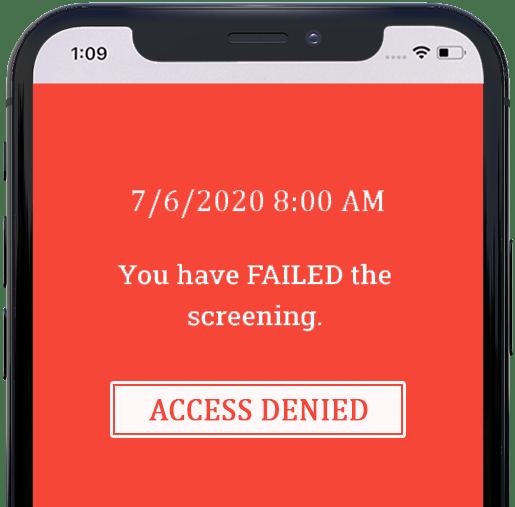 access denied screening