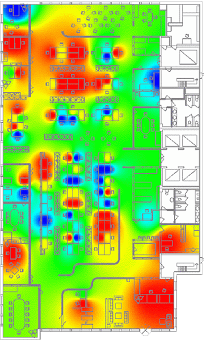 automation occupancy heat map